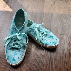 Under Armour Teal Floral Sneakers